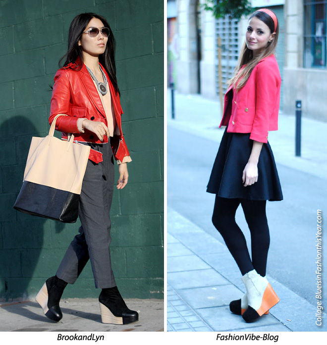 Style Vs Style Mini Red Jacket Minimarket Wedges