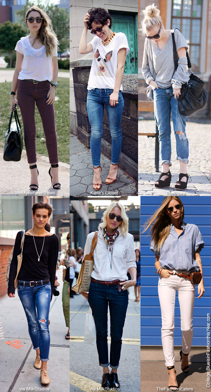 How to dress up jeans fashion