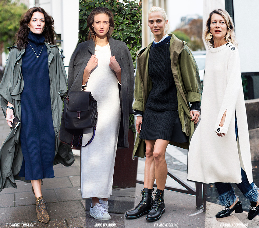 Easy To Wear: the Knitted Dress - Blue is in Fashion this Year