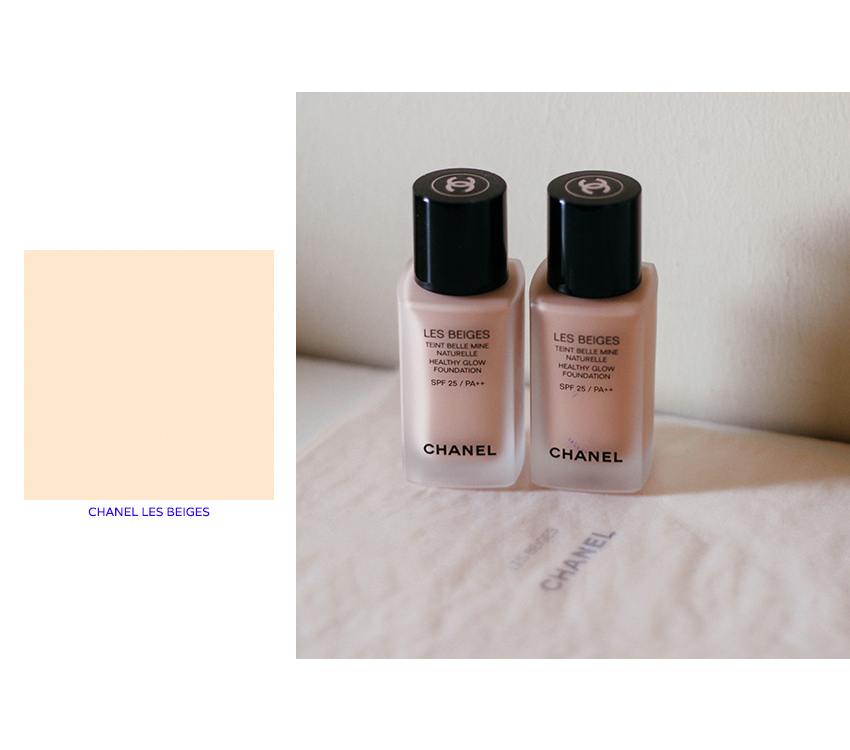 chanel les beiges healthy glow foundation yes blue is in fashion this year. Black Bedroom Furniture Sets. Home Design Ideas