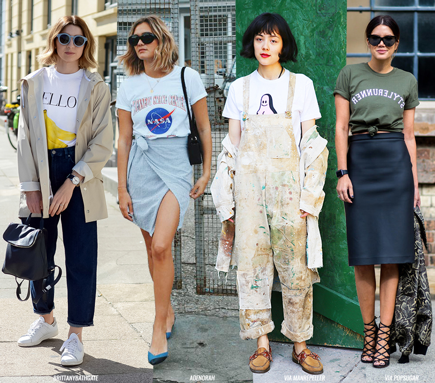 How to wear a vintage t shirt blue is in fashion this year for How to whiten shirts
